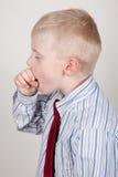 儿童咳嗽 库存照片