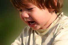 儿童哭泣饥饿 免版税库存图片