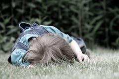 儿童哭泣 库存照片