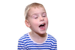 儿童唱歌 图库摄影