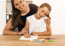 儿童图画一点 免版税库存照片
