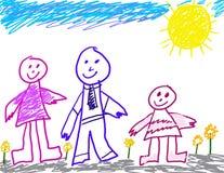 儿童图画系列喜欢 免版税库存照片