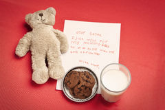 儿童圣诞节信函偏僻的愿望 库存图片
