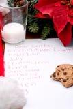 儿童圣诞节列表s愿望 免版税库存图片