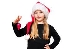 儿童圣诞节女用连杉衬裤 图库摄影