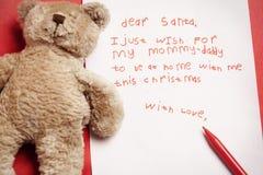 儿童圣诞节诚实的愿望 免版税库存照片