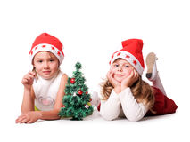 儿童圣诞节 库存照片