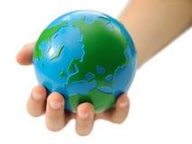 儿童地球现有量s 免版税库存图片