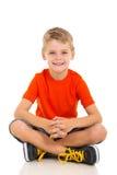 儿童坐的地板 库存照片