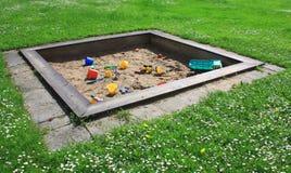 儿童坑s沙子 免版税库存照片