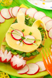 儿童复活节三明治 免版税库存照片