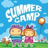 儿童夏令营系列 向量例证