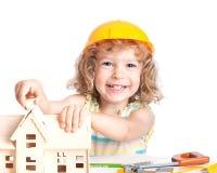 儿童大厦房子 免版税库存照片