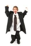 儿童太大的诉讼 免版税库存照片