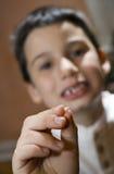 儿童失去的牙 库存照片