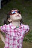 儿童女孩太阳镜 库存图片