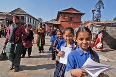 儿童女孩尼泊尔 免版税库存照片