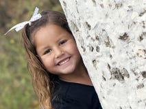 儿童女孩微笑 免版税库存图片