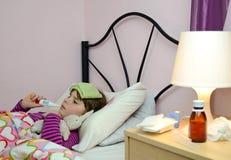 儿童女孩病残 免版税库存图片