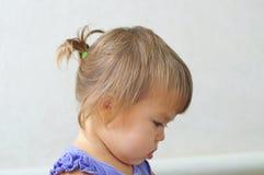 儿童女孩第一种发型-微小的尾巴,女婴ch档案  免版税库存图片
