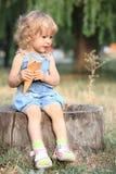 儿童奶油色冰 免版税库存照片
