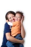 儿童妈妈 免版税库存照片