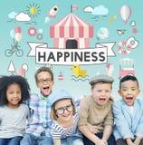 儿童孩子精力充沛的青年嬉戏的概念 库存照片