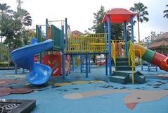 儿童室外操场在雪兰莪,马来西亚 库存照片