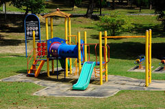 儿童室外操场在雪兰莪,马来西亚 图库摄影