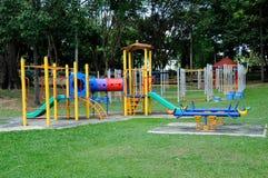 儿童室外操场在雪兰莪,马来西亚 库存图片