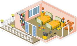 儿童家具空间 免版税库存图片