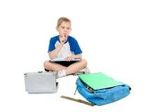 儿童家庭作业认为 免版税库存照片