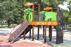 儿童密林健身房 免版税库存图片