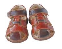 儿童对s凉鞋夏天 免版税库存照片