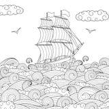 儿童帆船 免版税库存图片