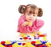 儿童开发的比赛作用 免版税库存图片