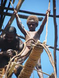 儿童当地人瓦努阿图 库存图片