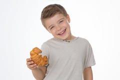 儿童微笑的甜点 库存图片