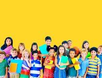 儿童快乐的学习的教育知识概念 免版税图库摄影