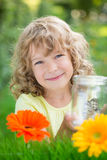 儿童愉快的公园春天 免版税库存图片