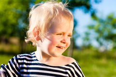 儿童愉快的微笑 库存照片