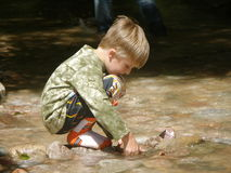 儿童愉快的水 免版税库存照片