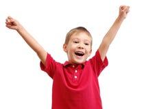 儿童愉快的纵向 免版税库存照片