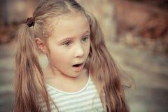 儿童愉快的纵向 免版税图库摄影