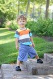 儿童户外夏天,公园 库存照片