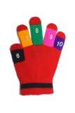 儿童手套红色 图库摄影