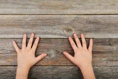 儿童手指人力五个现有量的现有量 免版税图库摄影