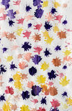 儿童抽象绘画油漆Splats 库存图片