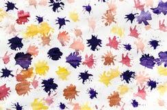 儿童抽象绘画油漆Splats 免版税库存照片