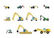 儿童挖掘机的s玩具 免版税库存照片